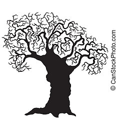 Árbol vector en blanco