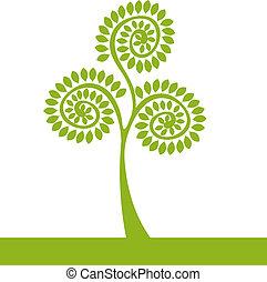 Árbol verde de logo