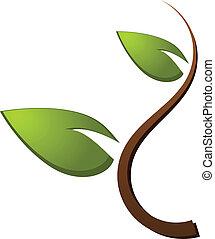 Árbol verde logotipo de la naturaleza