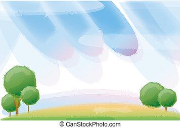 Árbol y cielo