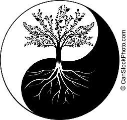 Árbol yin yang