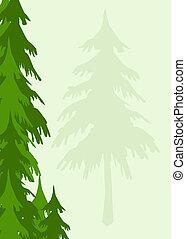 árboles, plano de fondo