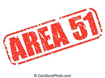 Área 51 texto de sello rojo