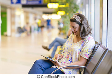 Área de espera del aeropuerto