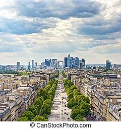 área, empresa / negocio, avenue., la, parís, francia, defensa, grande, armee