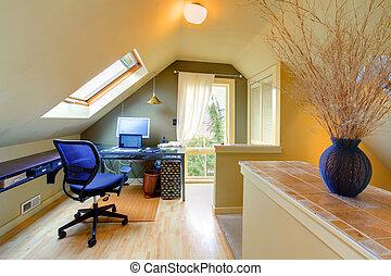 ático, hogar, cómodo, oficina