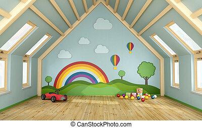 ático, playroom