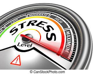 énfasis, nivel, máximo, metro, conceptual, indicar