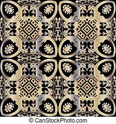 étnico, flores, texture., floral, telón de fondo., estilo, geométrico, superficie, fondo., pattern., repetición, decorativo, ornament., leaves., diseño, vendimia, florido, tribal, vector, seamless, hermoso, ornamental, prospere