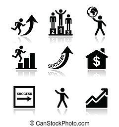 Éxito en iconos comerciales