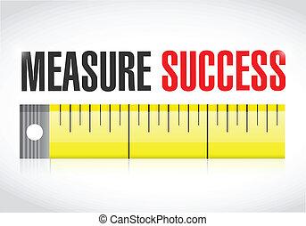 éxito, ilustración, medida