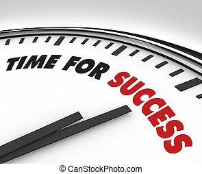 éxito, reloj, -, metas, tiempo, logro