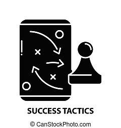 éxito, señal, editable, concepto, ilustración, golpes, vector, negro, táctica, icono