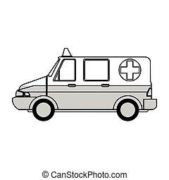 Ícono de ambulancia médico