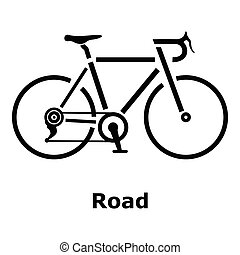 Ícono de bicicleta, estilo simple