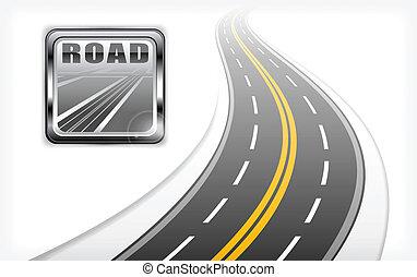Ícono de carretera con autopista