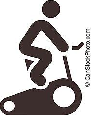 Ícono de ciclismo interior