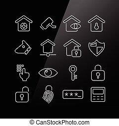 Ícono de concepto de seguridad en casa