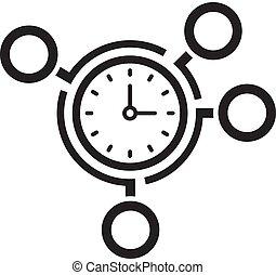 Ícono de gestión del tiempo. Un concepto de negocios.