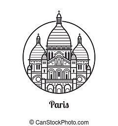 Ícono de París de viaje