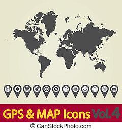 ícono del mapa mundial 4