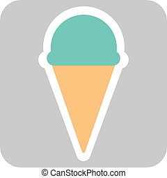 Ícono vector de helado aislado en el fondo. Trendy dulce símbolo. Logo