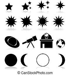 Íconos de astronomía