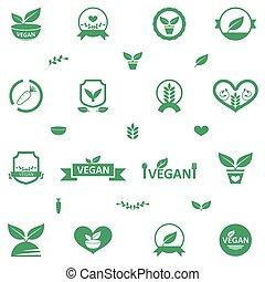 Íconos de comida vegetariana