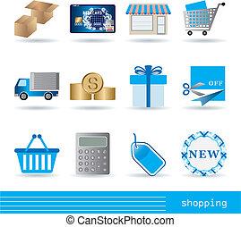 íconos de compras listos