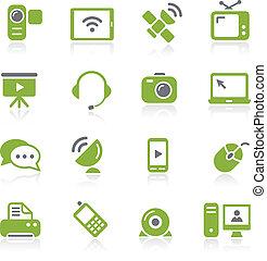íconos de comunicación. Serie Natura