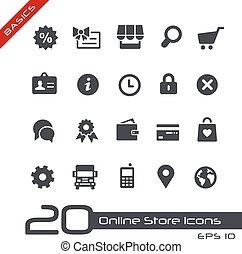 Íconos de la tienda en línea / básicos