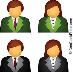 Íconos de negocios femeninos Vector