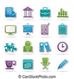 íconos de negocios y oficinas