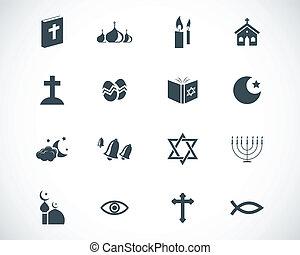 Íconos de religión negra Vector