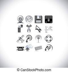 íconos de señal en la red