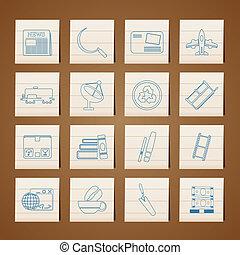 íconos empresariales e industriales