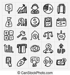 Íconos financieros Doodle