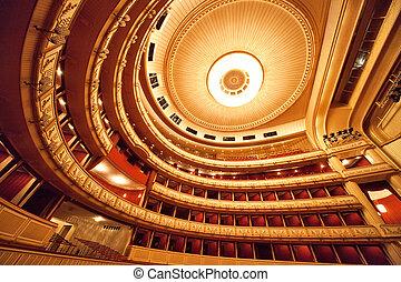 ópera, interior, viena