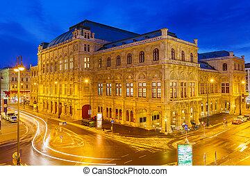 ópera, viena, estado, austria, casa