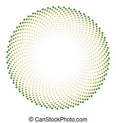 óptico, cyclic, vector, ilusión, plano de fondo, puntos