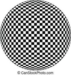 óptico, ilustración, uno