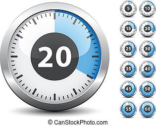 -, avisador, uno, vector, cada, cambio, fácil, tiempo, minuto
