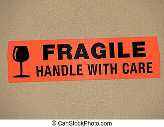 -, coche, frágil, manija, cartón