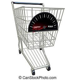 -, corriente, compras, vacío, carrito