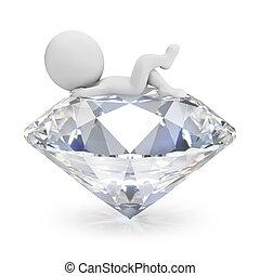-, gente, 3d, diamante, pequeño, mentiras