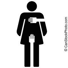 -, hostigamiento, sexual, señal, mujer