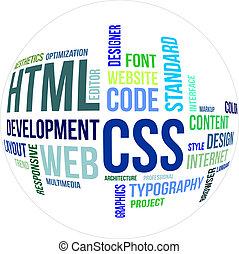 -, html, palabra, css, nube