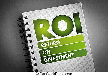 -, inversión, regreso, siglas, roi