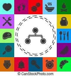 -, jerarquía, estructura, gráfico, icono, organización