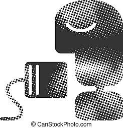-, lata, halftone, icono, teléfono